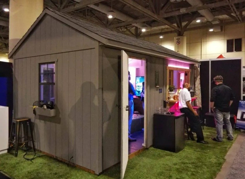 The Best Buy He-Shed — Where Tech and Design Can BOTH Call HOME — Best Buy He-Shed Exterior Shot