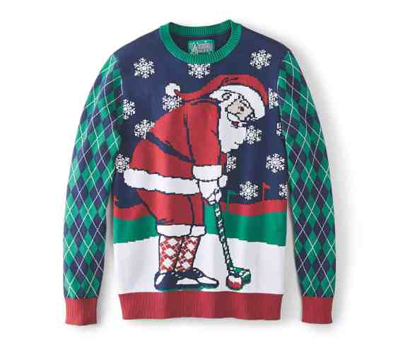 Make Your Mark on Fashion this Winter — The Mark's Christmas 2016 Gift Guide — Denver Hayes Santa Golf Ugly Christmas Sweater