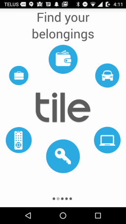 Tile Mate — Helping You Keep Your Stuff BY YOUR SIDE. — Tile App — Intro Screens — Find Your Belongings