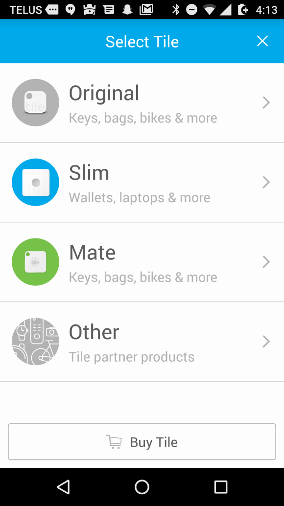 Tile Mate — Helping You Keep Your Stuff BY YOUR SIDE. — Tile App — What Kind of Tile Are You Using