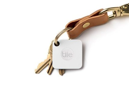 Tile Mate — Helping You Keep Your Stuff BY YOUR SIDE. — Tile Mate on a Set of Keys