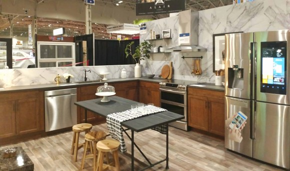 Checking out the Best Buy Smart Home at the National Home Show! Welcome to the kitchen!