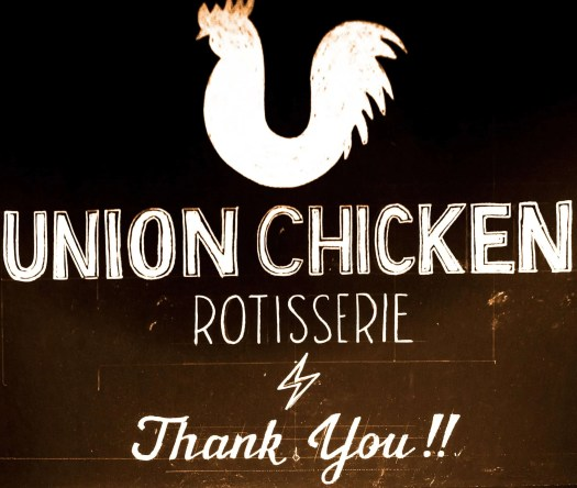 Get Fingers Worth Licking at Union Chicken! — The Union Chicken Exit Sign