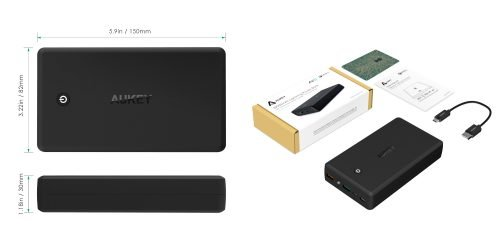 Prevent that Phone Paralysis with the AUKEY 30000mAh Power Bank! — Dimensions and What's in the Box