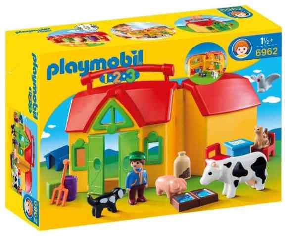 Fun's a Sure Bet with PLAYMOBIL Take Along Sets! — PLAYMOBIL 1.2.3 My Take Along Farm — Packaging