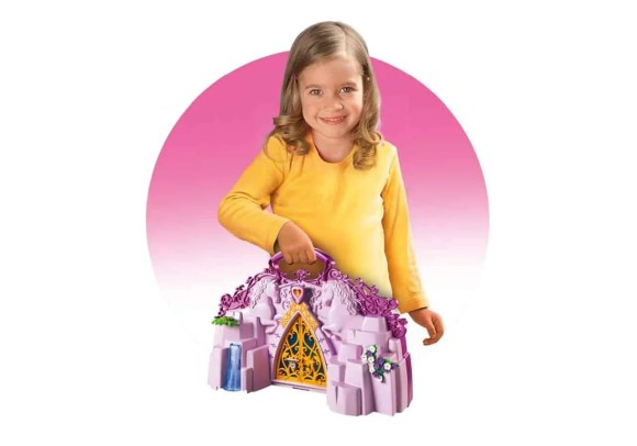 Fun's a Sure Bet with PLAYMOBIL Take Along Sets!—PLAYMOBIL Take Along Fairy Unicorn Garden—In Action