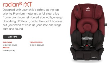 Put Your Car Seat Woes At Ease With The Diono Radian RXT