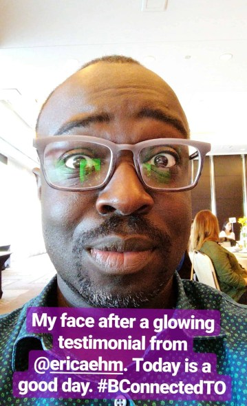 Small But Mighty—My Experience at 2017's BConnected Conference!—My Reaction After Hearing Erica Ehm's Testimonial About Me
