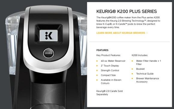 Kick Up Your Coffee Game with Van Houtte and the Keurig K200 PLUS!—Keurig K200 PLUS Machine