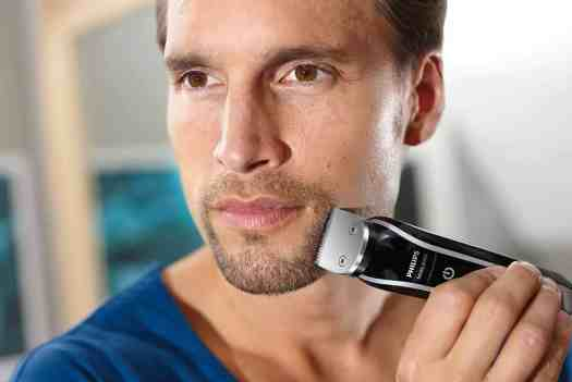Upgrade Your Shave with the Philips MultiGroom 5000! — The Philips MultiGroom 5000, its Combs and Attachments — Man Using the Philips MultiGroom 5000