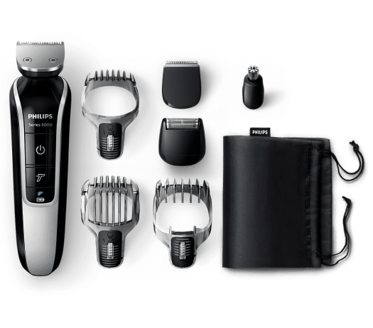 Upgrade Your Shave with the Philips MultiGroom 5000! — The Philips MultiGroom 5000, its Combs and Attachments