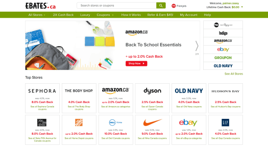 Get Cash Back for Another Day with EBates.ca! — EBates Homepage