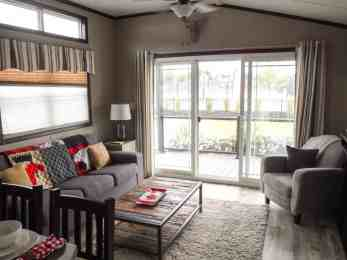 Make Vacay Matter More with Stays at Sherkston Shores! — Luxury Lakefront Rental Cottage Living Room