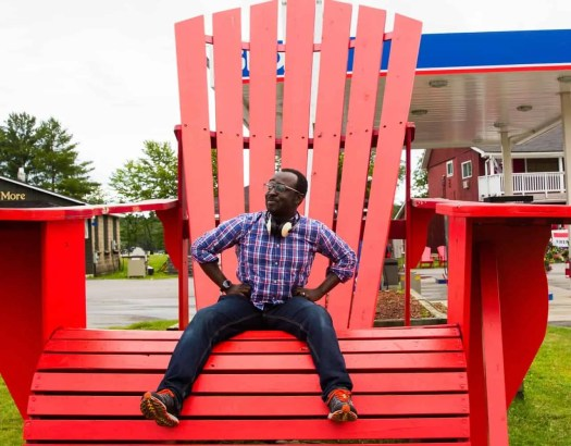 It's a Ford. #FordSummer. (Checking out the Ford Canada SUV Line in Muskoka!) — Casey Palmer Chillin' in a Muskoka Chair