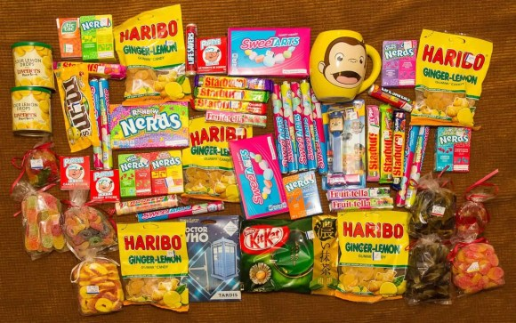 A haul of candy from The Candy Shoppe