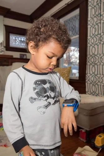 The Casey Palmer, Canadian Dad Christmas Gift Guide for... Kids! — The Elder Palmer Checking His VTech Kidizoom Smartwatch DX2