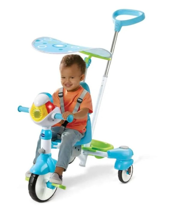 The Casey Palmer, Canadian Dad Christmas Gift Guide for... Kids! — VTech 4-in-1 Stroll & Grow Tek Trike — Training Mode