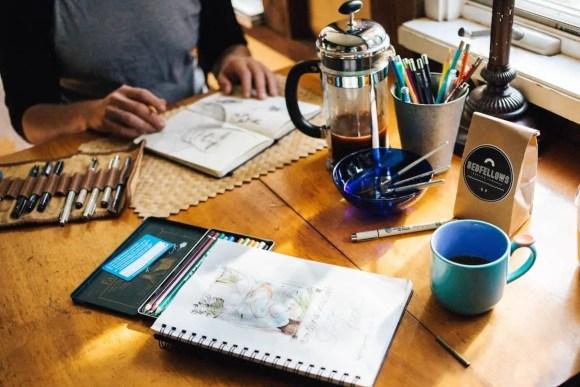 The 2017 100 — 31 Successes. — Working Away on an Art Desk