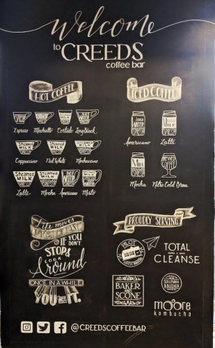A Night Out at Creeds — Redefining My Adult Expectations — Creeds Coffee Menu