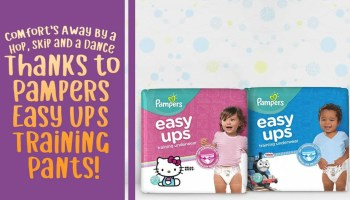 Comfort's Away By a Hop, Skip and a Dance Thanks to Pampers Easy Up Training Pants! (Featured Image)
