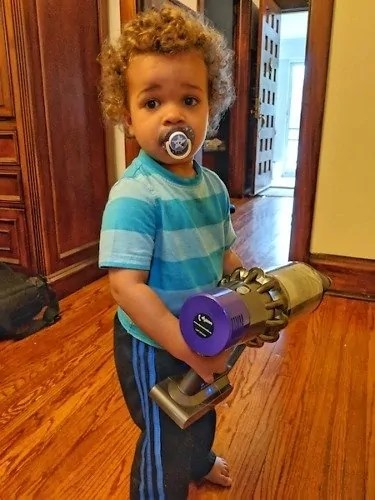 Messes and Spills Go From Clumsy to Cute with the Dyson Cyclone V10 Absolute! — The Littlest Palmer Ready for Action!