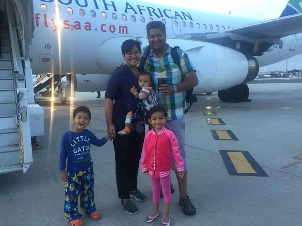 Chatting with Casey 0008 — We Are the Sum of Our Experiences — Shetty Family Outside an Airplane