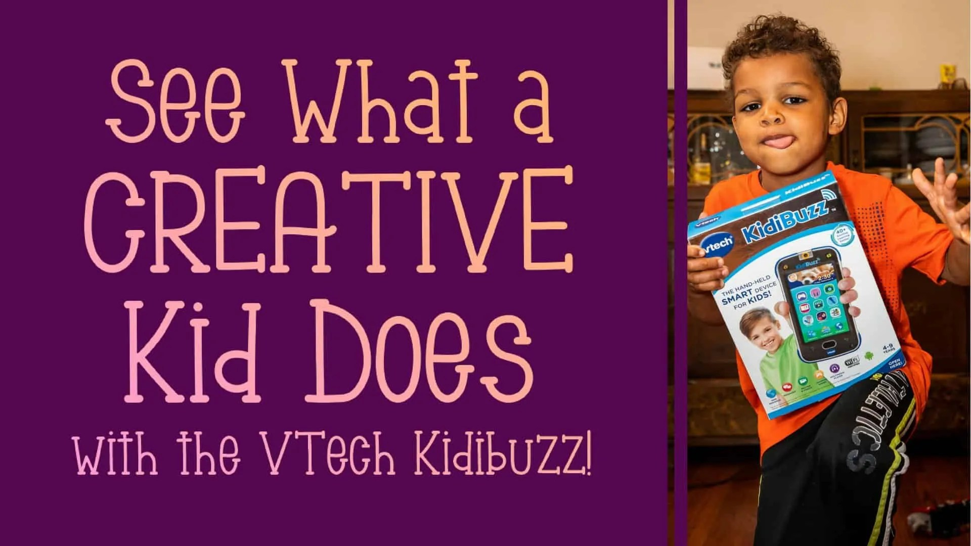 See What a CREATIVE Kid Does with the VTech Kidibuzz! (Featured Image)
