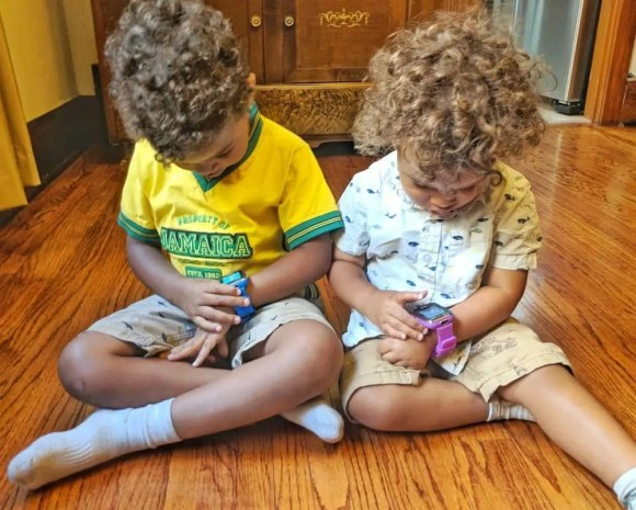Get Your Kids' Brains to Connect with LeapFrog and VTech!—The Boys Focused on the VTech Kidizoom Smartwatch DX-2