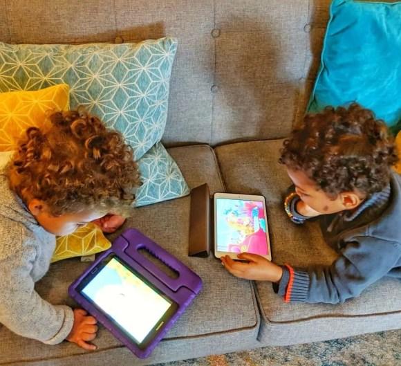 The Boys on Their Tablets