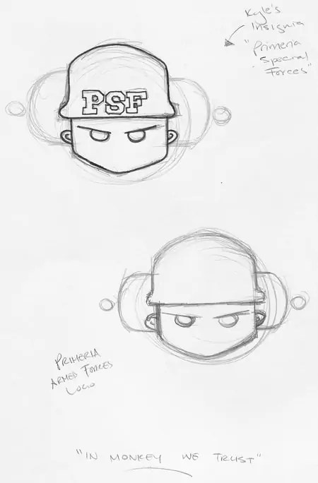 Fish 'n' Chimps: Some sketches of the insignias I designed for the Primerian Army's Armed Forces and Special Forces.