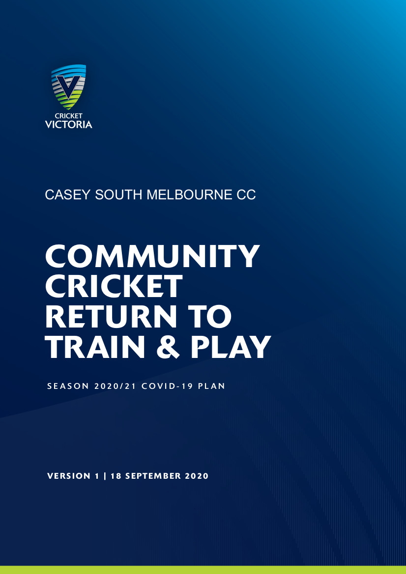 Return to Train and Play Guidelines.