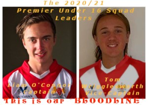 Under 16 Team Leaders.