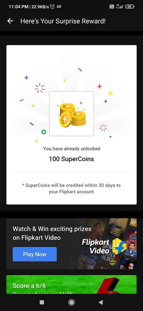 won 100 supercoins from ladies vs gentlemen flipkart answers today