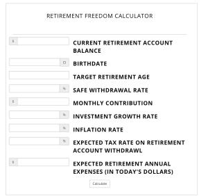 Calculator 17 - Cashflow Cop Police Financial Independence