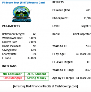 My FISc Results Card - 2017-2018 - Cashflow Cop Police Financial Independence