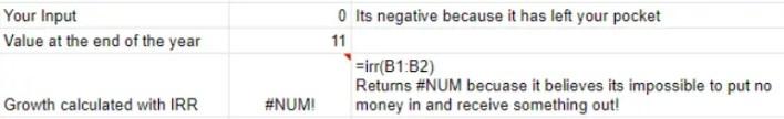 Investment Property IRR Error