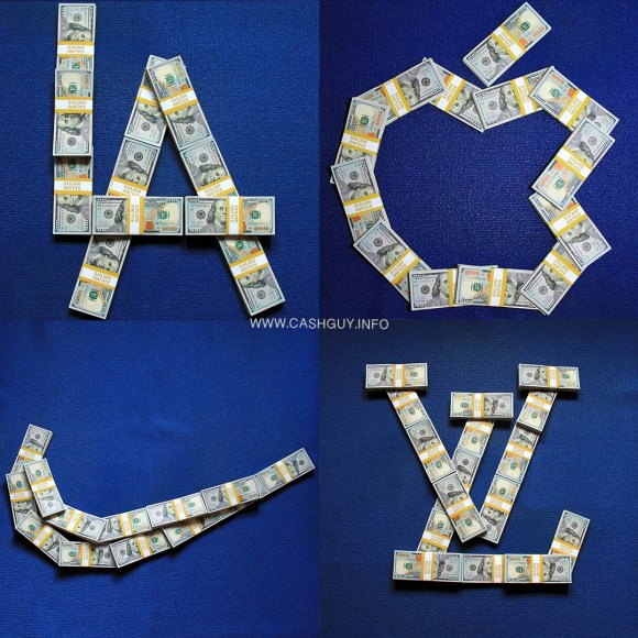 Popular Brands Made from Money Stacks!