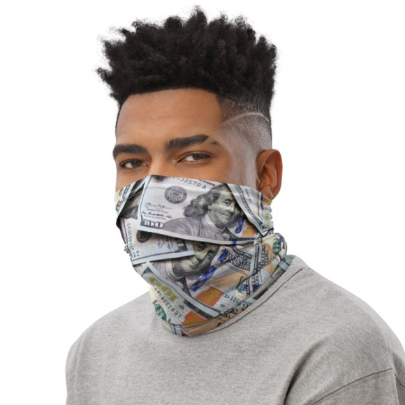 Face Covering with Money Pattern! Shop now!