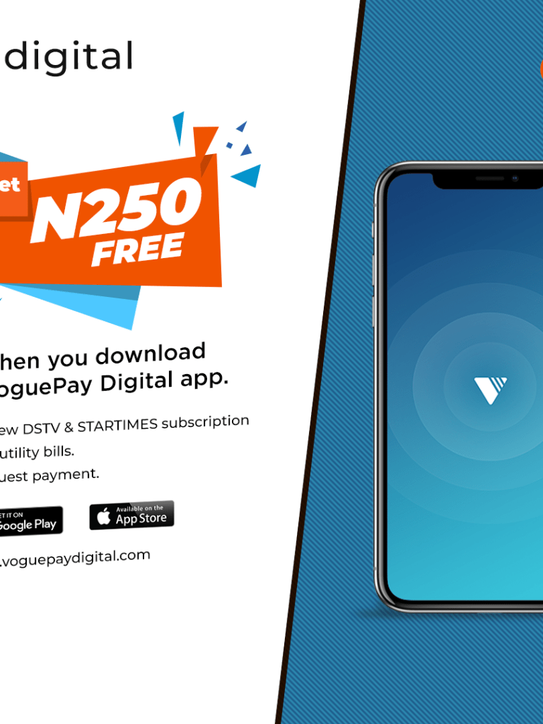 Download VoguePay Digital App and Get ₦250.