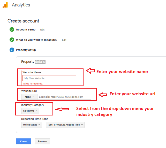 04 google analytics property setup - Google Analytics and Google Search Console: Explanation and Set up
