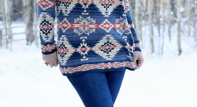 Southwest Boatneck Sweater