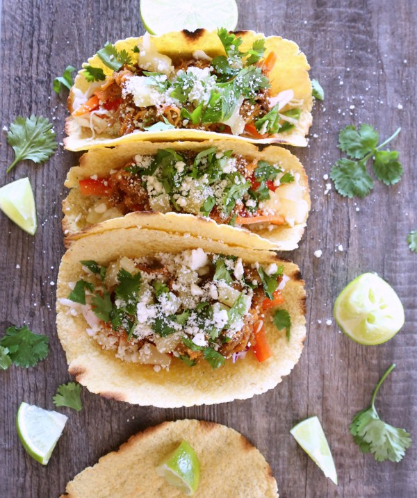 Pineapple, Pulled Pork Tacos