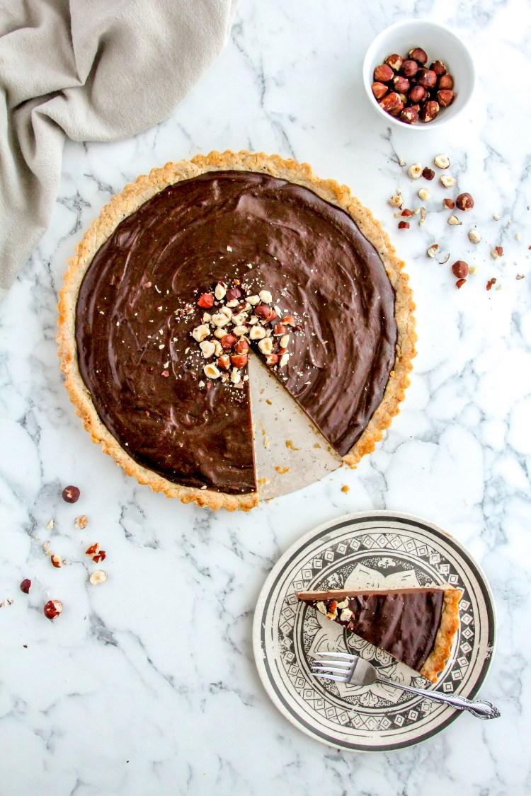 Chocolate Hazelnut Tart Recipe - Cashmere & Cocktails