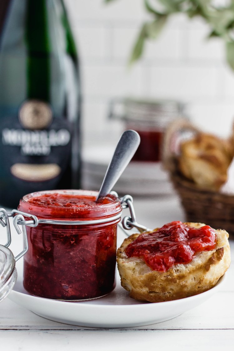 Strawberry Champagne Jam Recipe - Cashmere & Cocktails