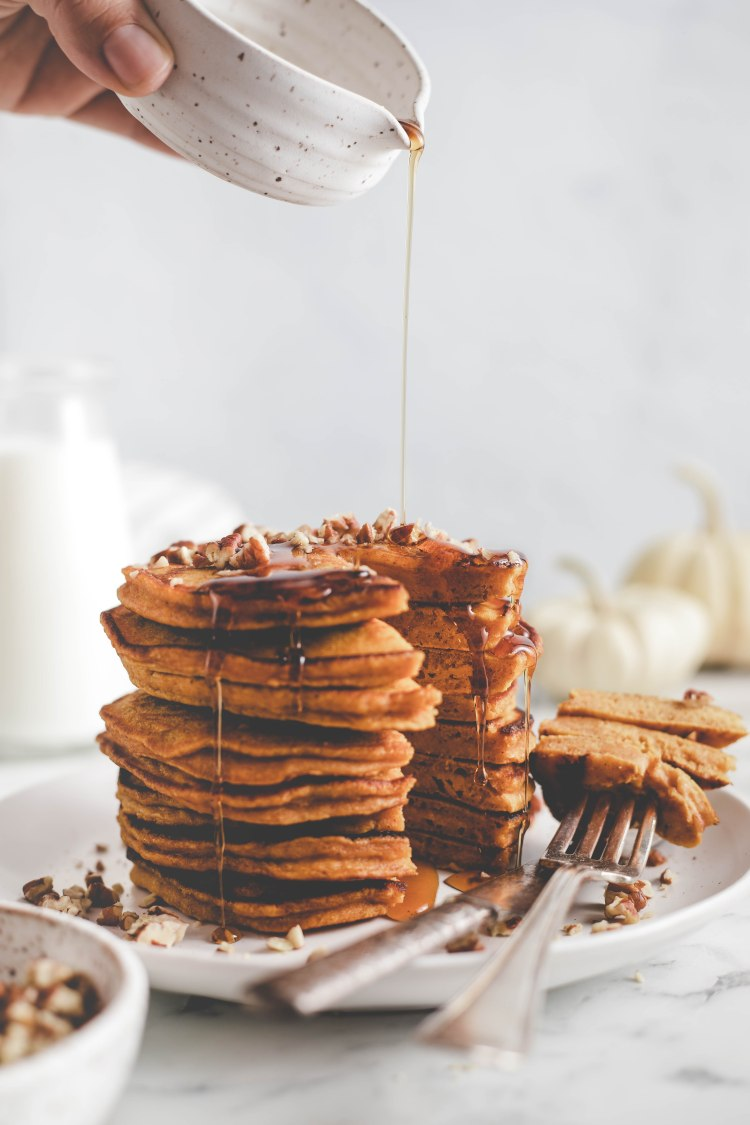 Browned Butter Pumpkin Pancakes - Cashmere & Cocktails