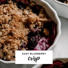 Easy Blueberry Crisp Recipe by Cashmere & Cocktails