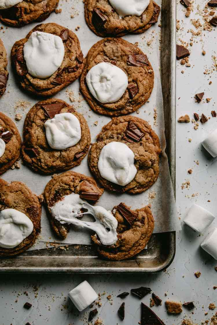 Brown Butter S'mores Cookies by Cashmere & Cocktails