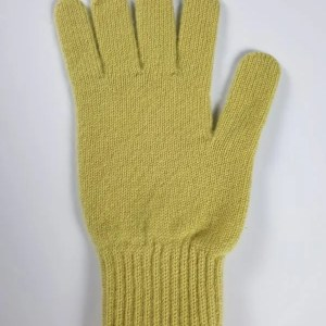 product image for a pair of sulphuric green pure cashmere gloves made in Scotland - 600x800 - product id:949 - cashmereglovesandscarves.co.uk