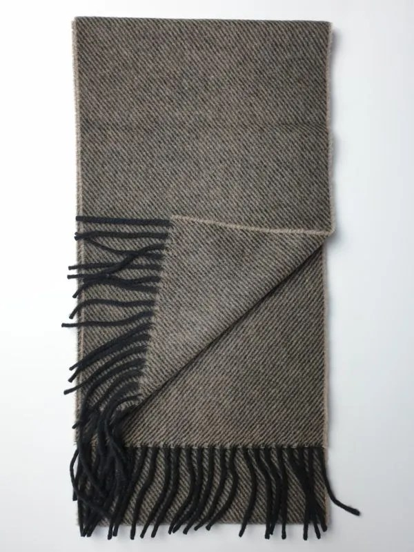 fe3a64357 product image of a pure cashmere scarf in light brown and black stripes  600x800 - cashmereglovesandscarves