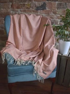 Lambswool Basket Weave Blanket   Made in Scotland